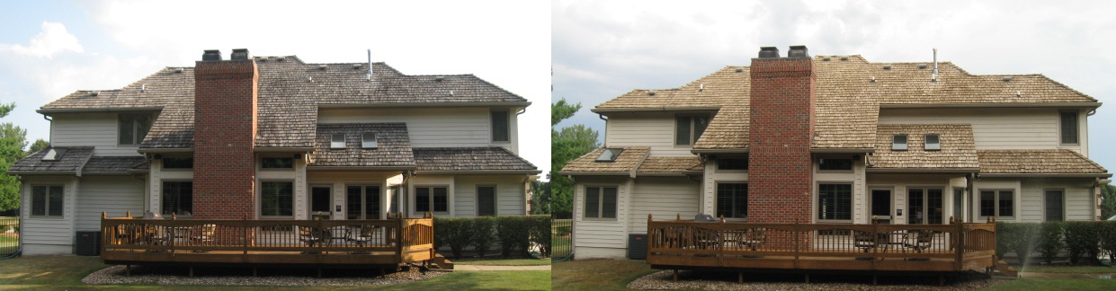 Cedar house b and after